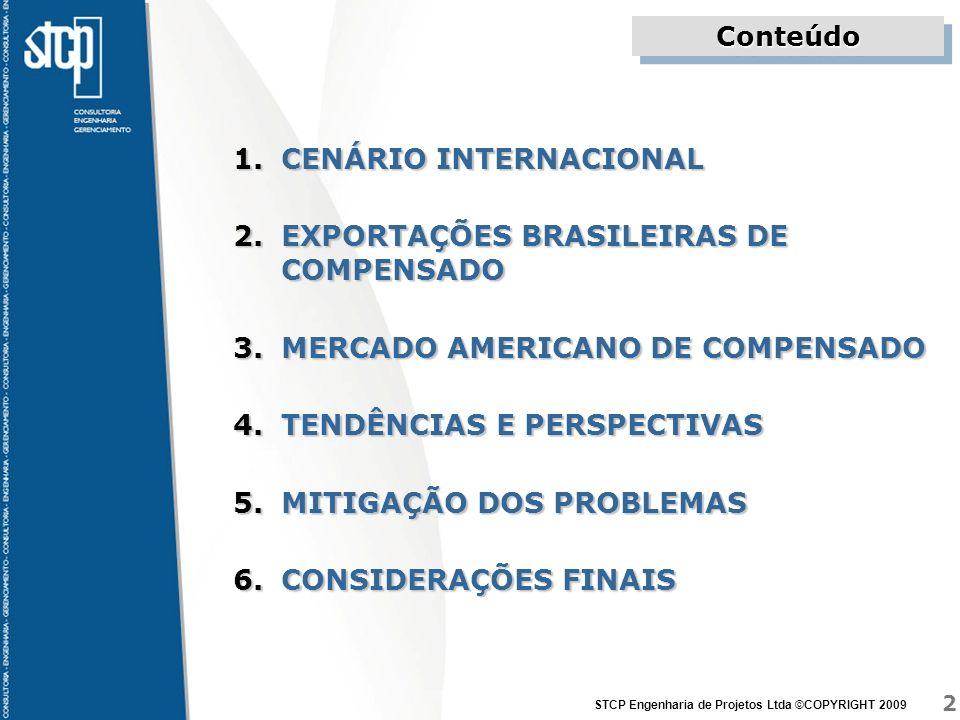 CENÁRIO INTERNACIONAL EXPORTAÇÕES BRASILEIRAS DE COMPENSADO
