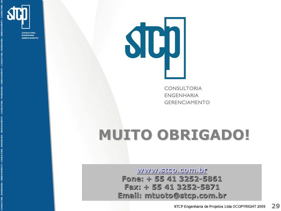 MUITO OBRIGADO! www.stcp.com.br Fone: + 55 41 3252-5861