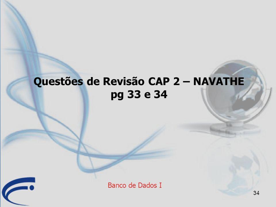 Questões de Revisão CAP 2 – NAVATHE pg 33 e 34