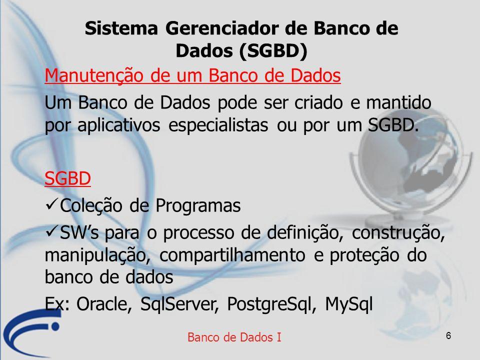 Sistema Gerenciador de Banco de Dados (SGBD)