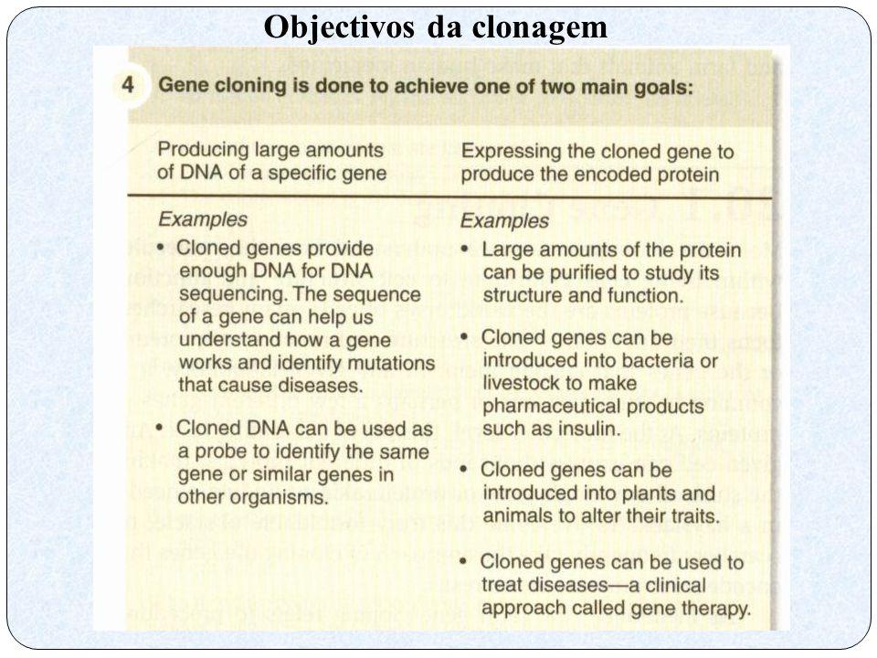 Objectivos da clonagem