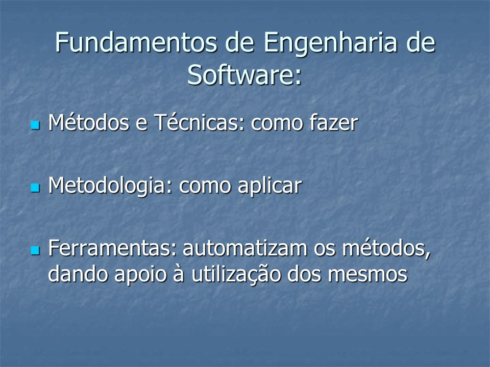 Fundamentos de Engenharia de Software: