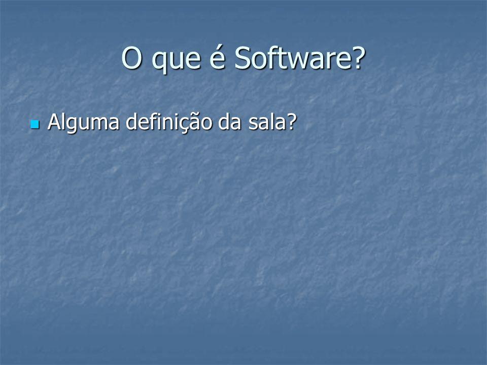 O que é Software Alguma definição da sala