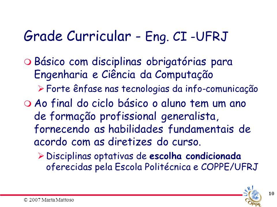 Grade Curricular - Eng. CI -UFRJ