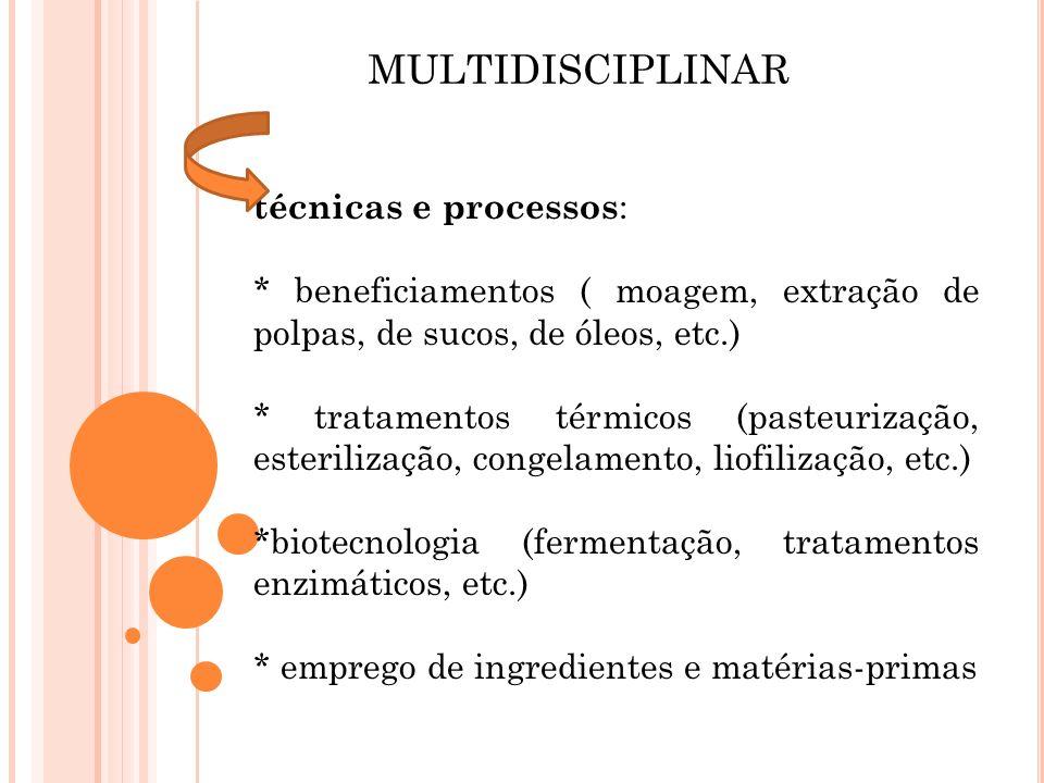 MULTIDISCIPLINAR técnicas e processos: