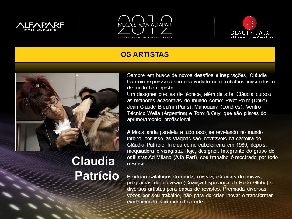 Claudia Patrício OS ARTISTAS