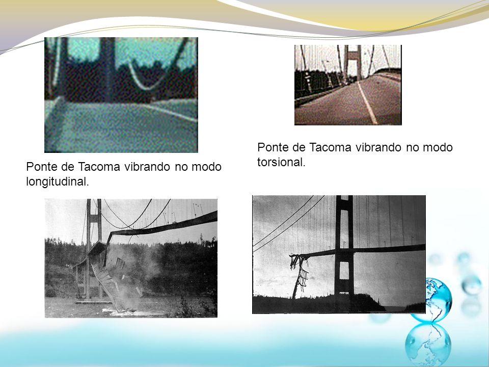 Ponte de Tacoma vibrando no modo torsional.