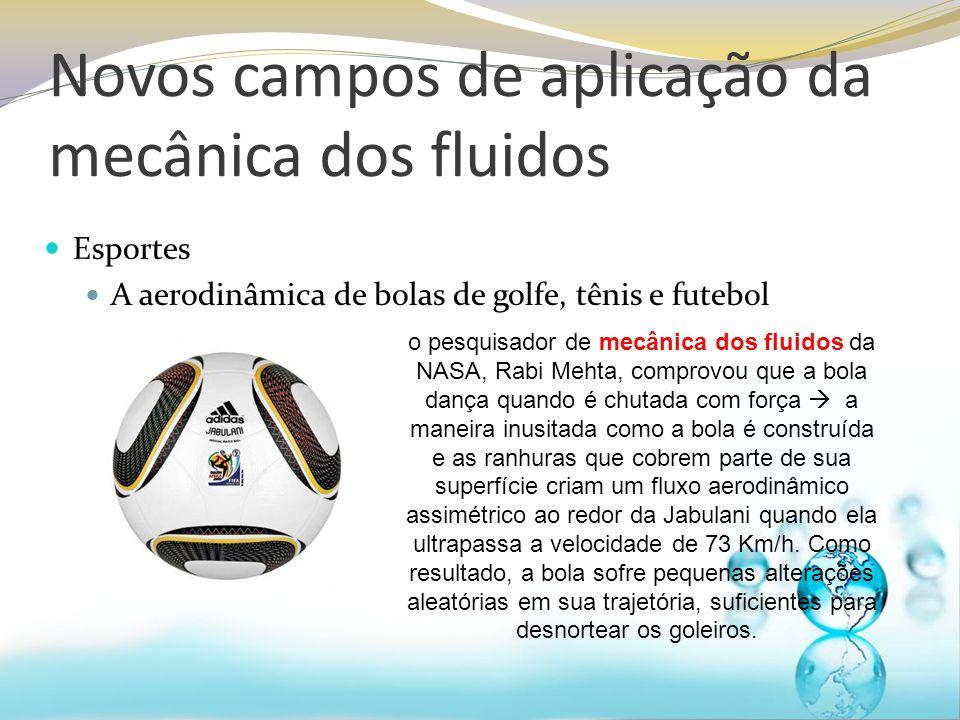 Novos campos de aplicação da mecânica dos fluidos