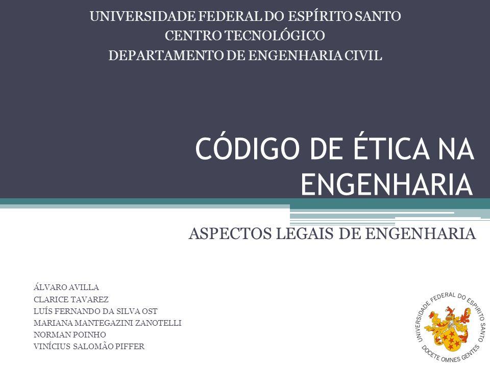 CÓDIGO DE ÉTICA NA ENGENHARIA