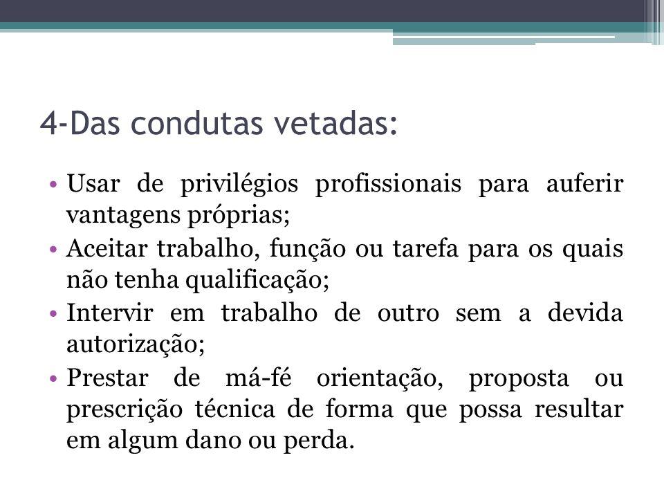 4-Das condutas vetadas: