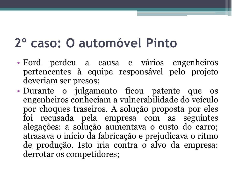2º caso: O automóvel Pinto