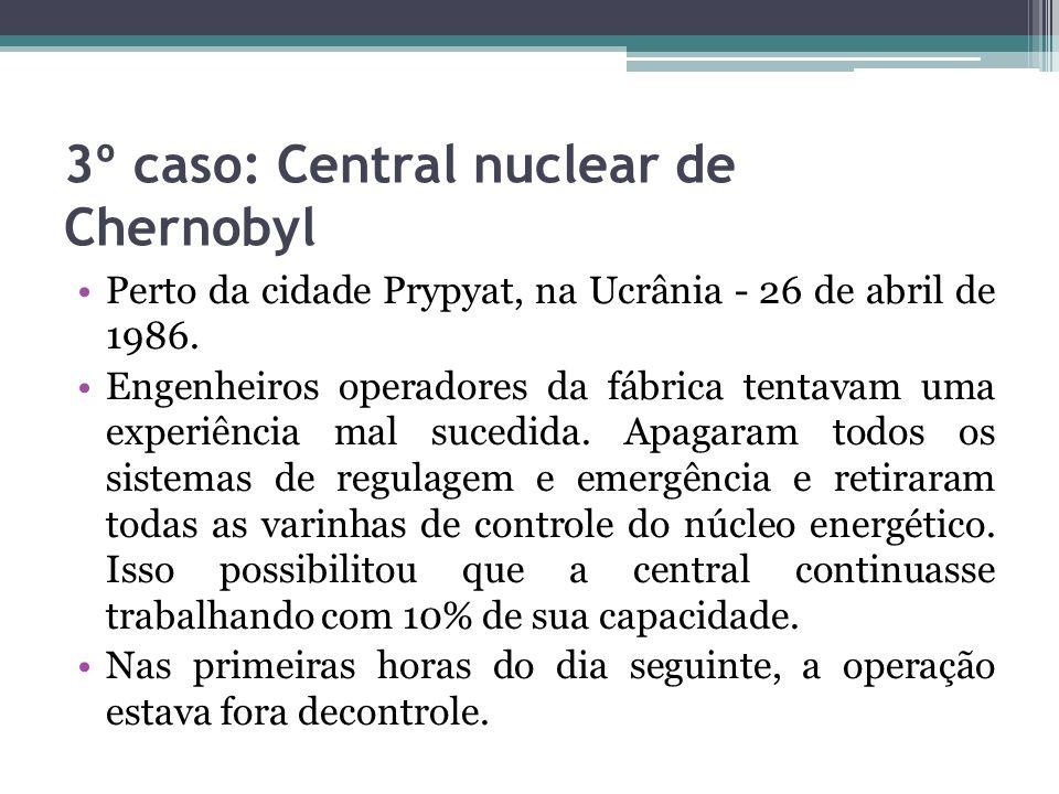 3º caso: Central nuclear de Chernobyl