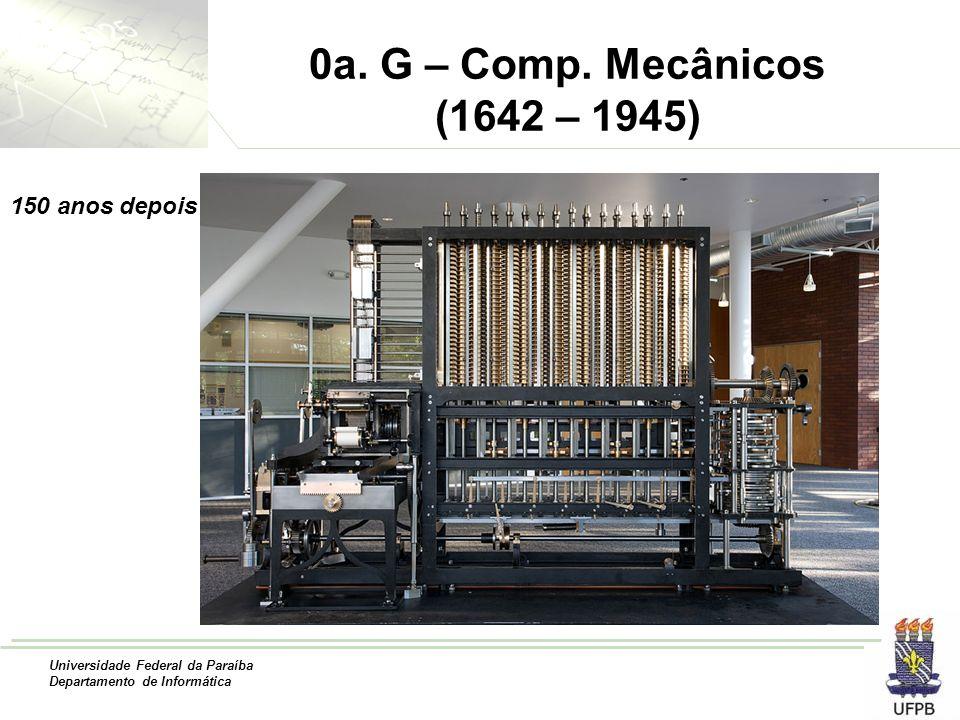 0a. G – Comp. Mecânicos (1642 – 1945) 150 anos depois