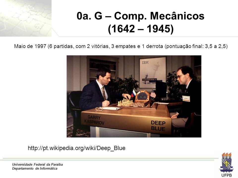0a. G – Comp. Mecânicos (1642 – 1945) Maio de 1997 (6 partidas, com 2 vitórias, 3 empates e 1 derrota (pontuação final: 3,5 a 2,5)