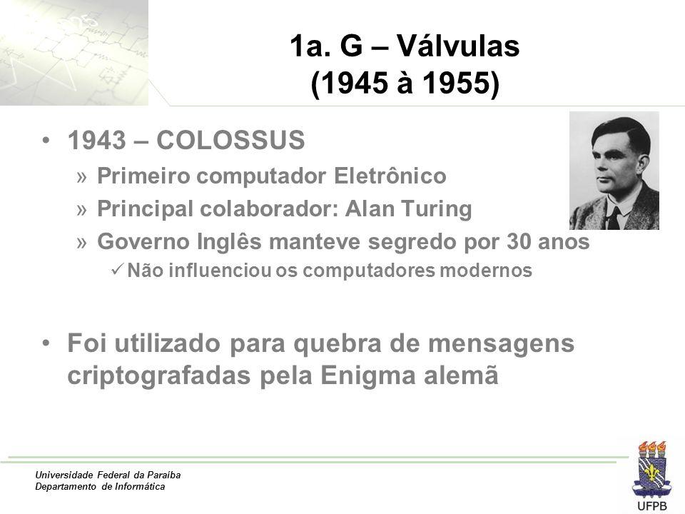 1a. G – Válvulas (1945 à 1955) 1943 – COLOSSUS