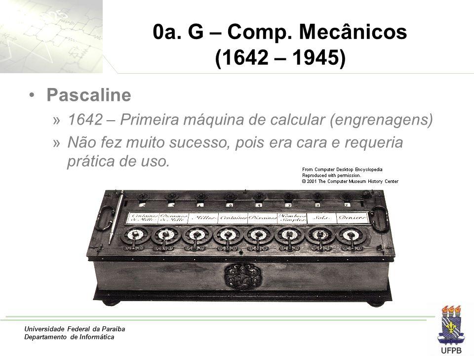 0a. G – Comp. Mecânicos (1642 – 1945) Pascaline