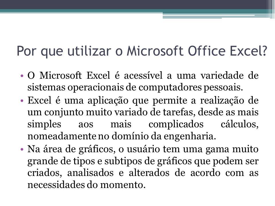 Por que utilizar o Microsoft Office Excel
