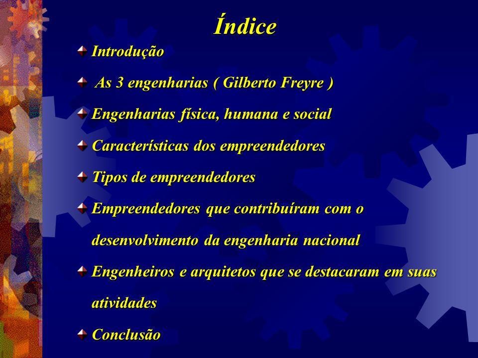Índice Introdução As 3 engenharias ( Gilberto Freyre )