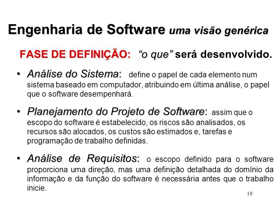 Engenharia de Software uma visão genérica
