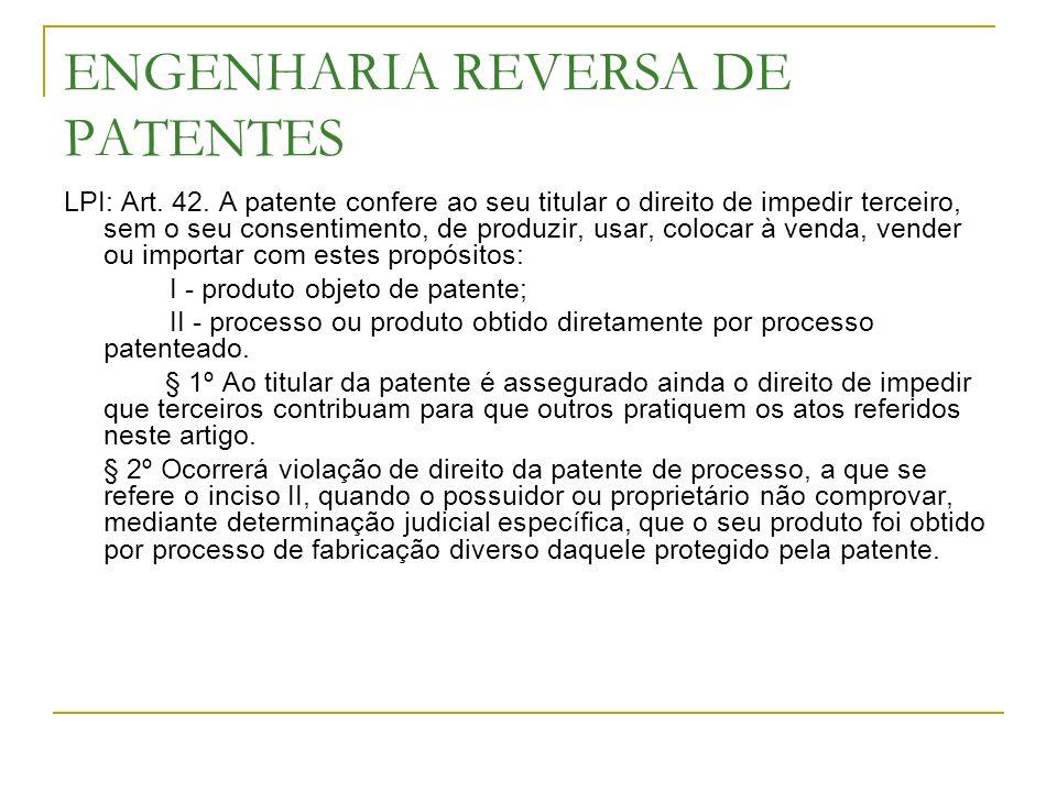 ENGENHARIA REVERSA DE PATENTES