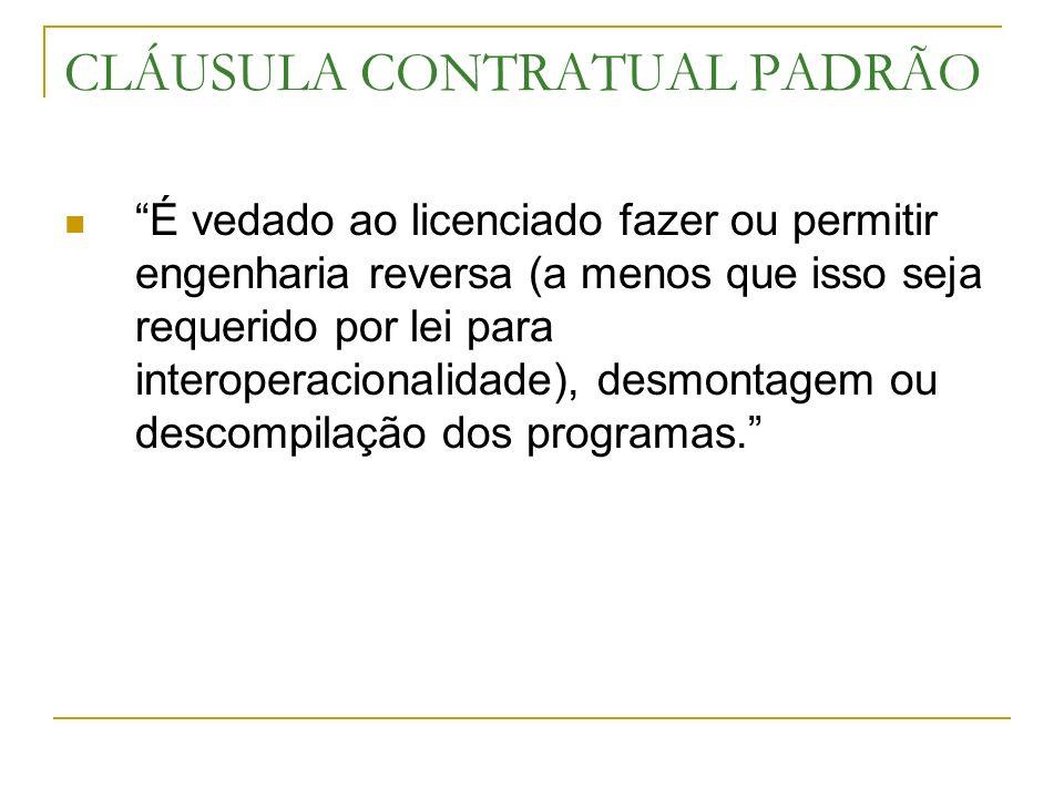 CLÁUSULA CONTRATUAL PADRÃO