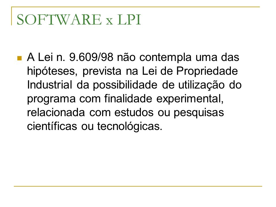 SOFTWARE x LPI