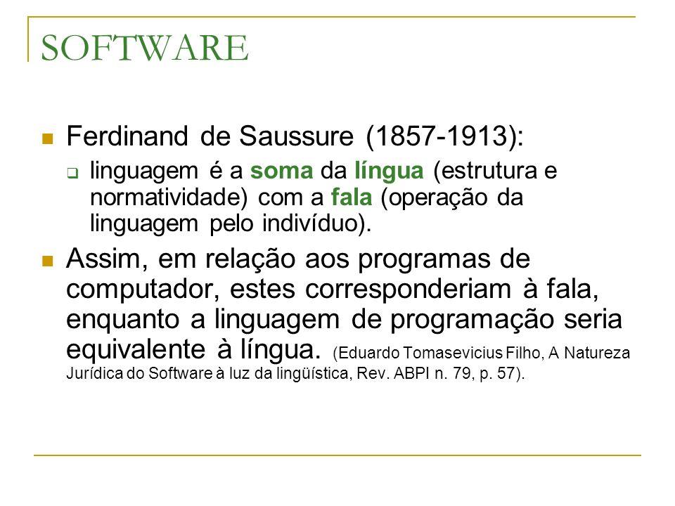 SOFTWARE Ferdinand de Saussure (1857-1913):