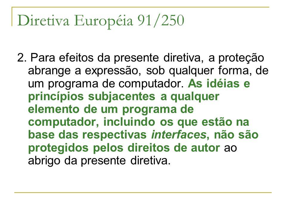 Diretiva Européia 91/250