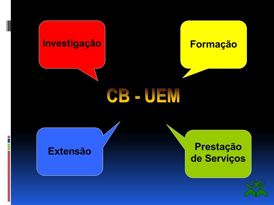 Investigação Formação CB - UEM Prestação de Serviços Extensão