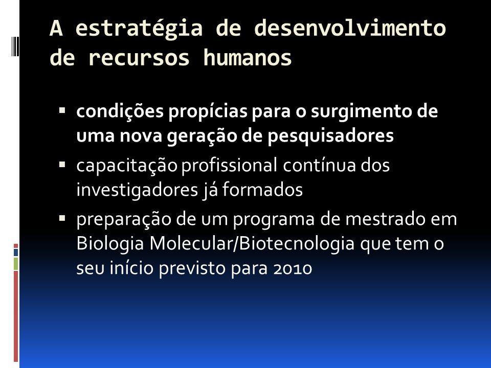 A estratégia de desenvolvimento de recursos humanos