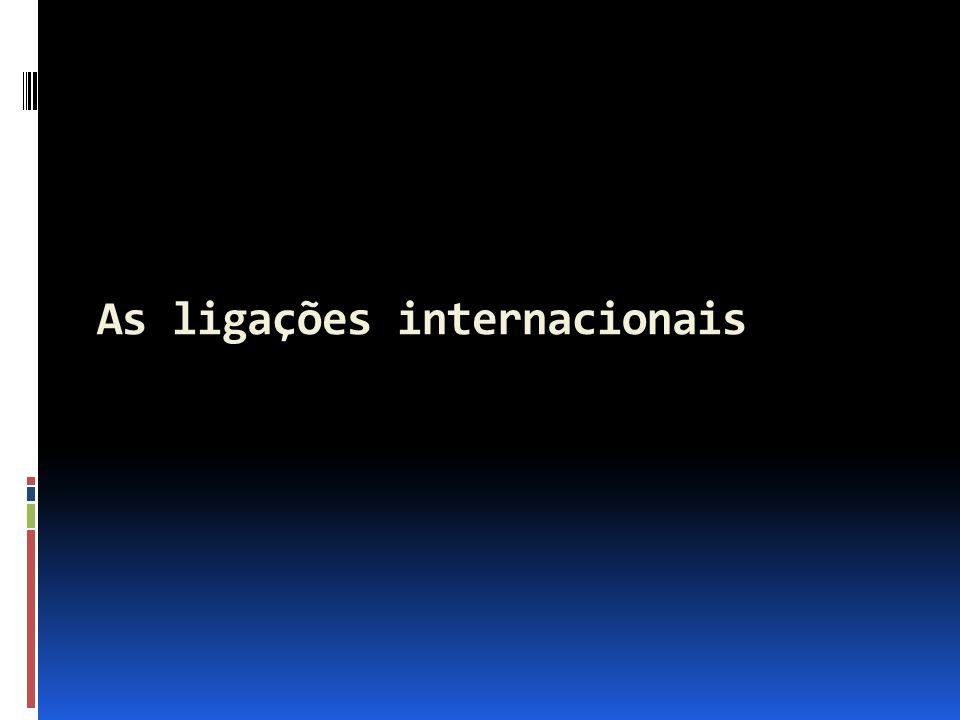 As ligações internacionais