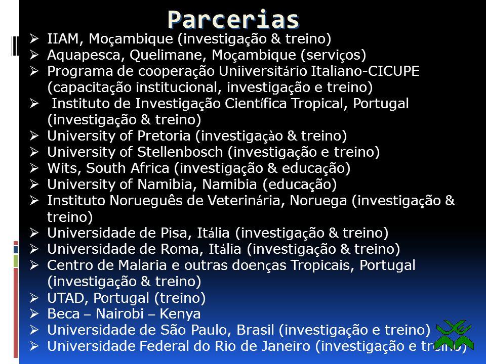Parcerias IIAM, Moçambique (investigação & treino)