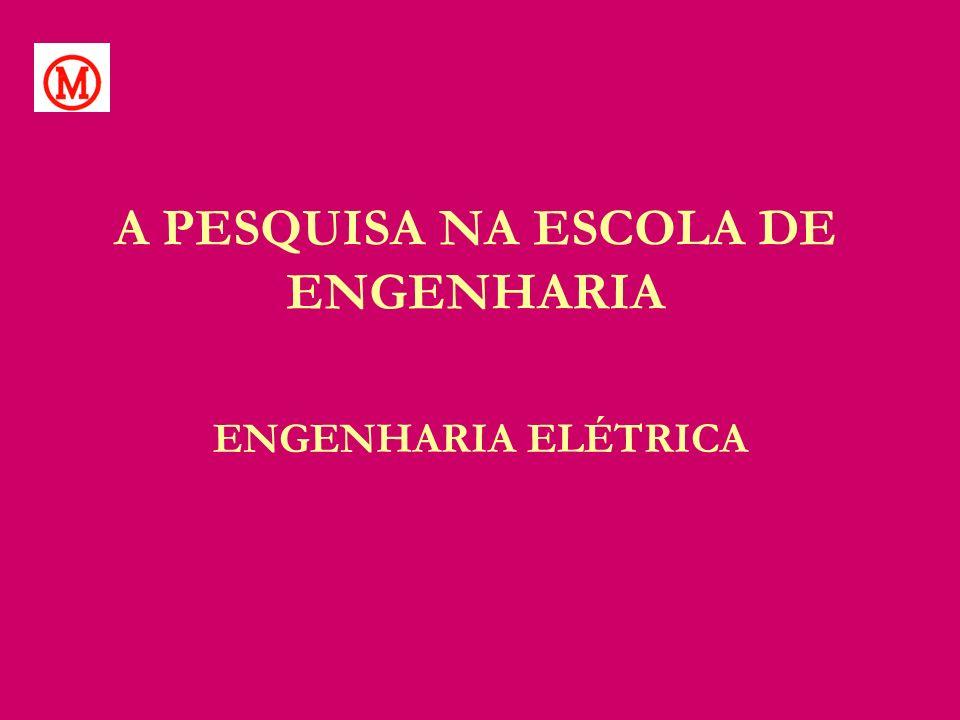 A PESQUISA NA ESCOLA DE ENGENHARIA