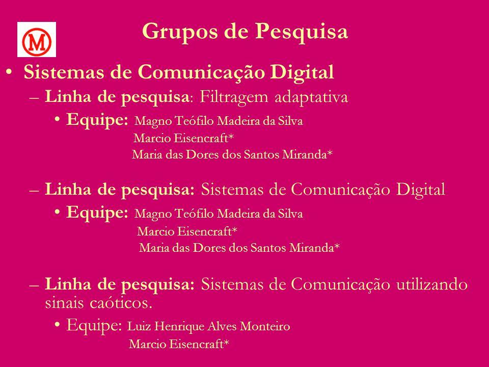 Grupos de Pesquisa Sistemas de Comunicação Digital