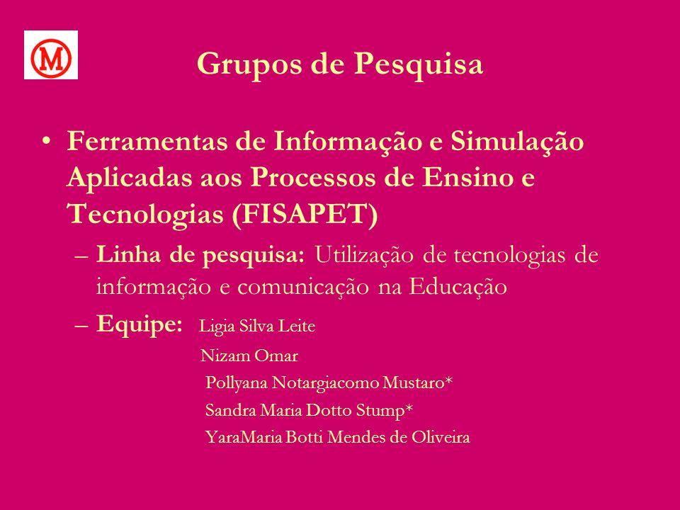 Grupos de Pesquisa Ferramentas de Informação e Simulação Aplicadas aos Processos de Ensino e Tecnologias (FISAPET)