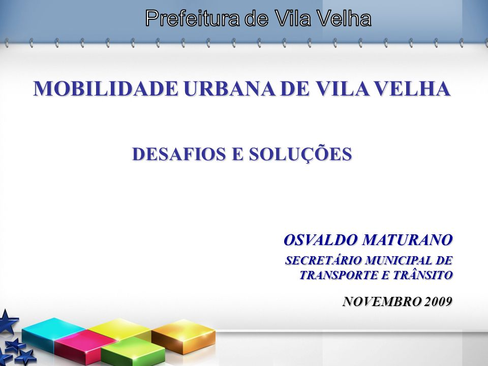 MOBILIDADE URBANA DE VILA VELHA