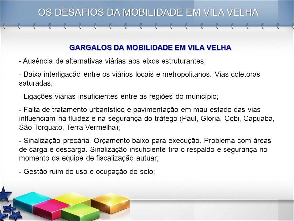 GARGALOS DA MOBILIDADE EM VILA VELHA