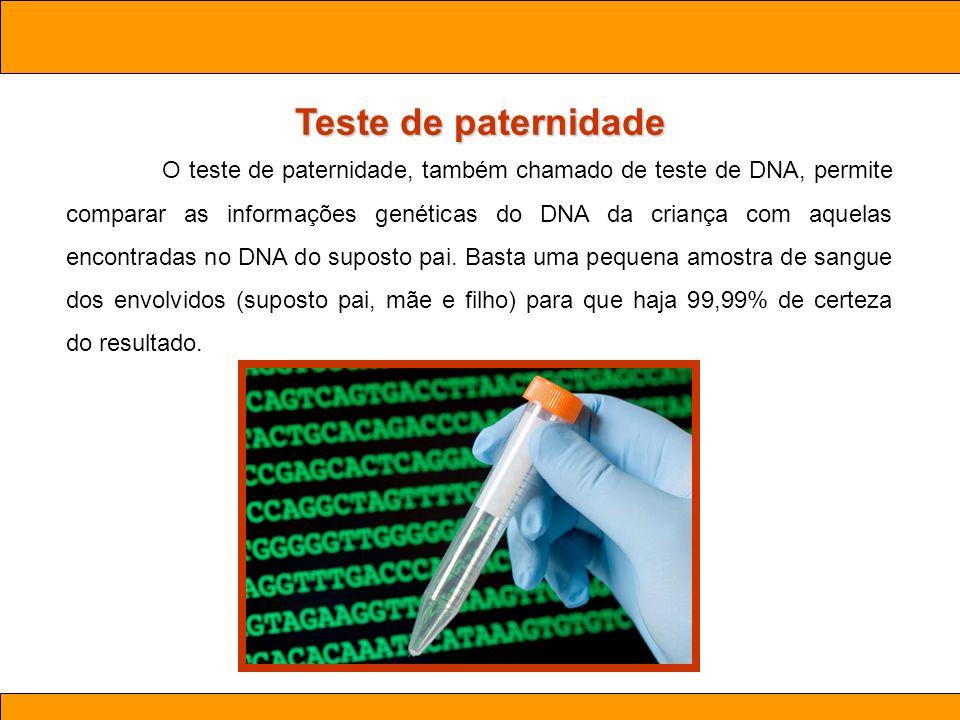 Teste de paternidade Ciências . Aula 03 Biotecnologia