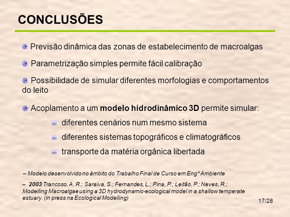 MODELAÇÃO DE MACROALGAS