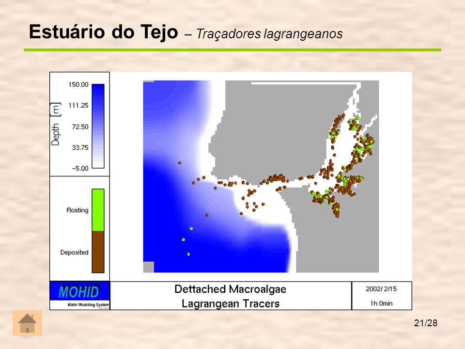 Ria de Aveiro Tempo de residência = 20 dias Área intertidal extensa