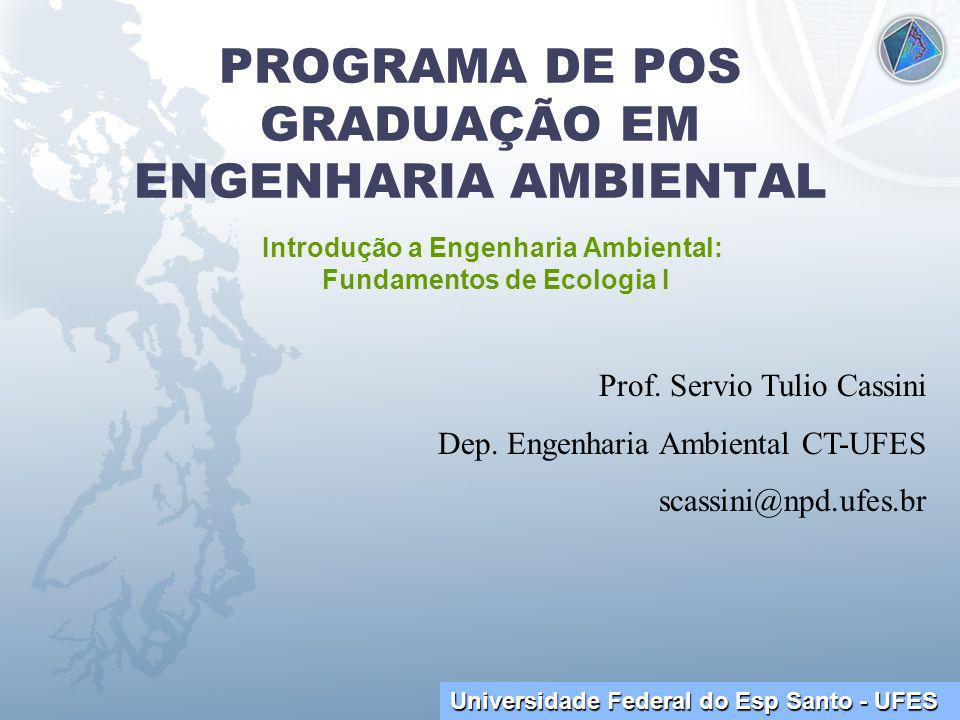 PROGRAMA DE POS GRADUAÇÃO EM ENGENHARIA AMBIENTAL