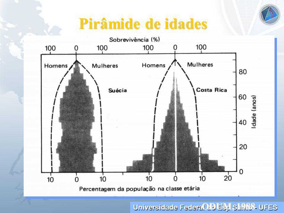 Pirâmide de idades ODUM, 1988