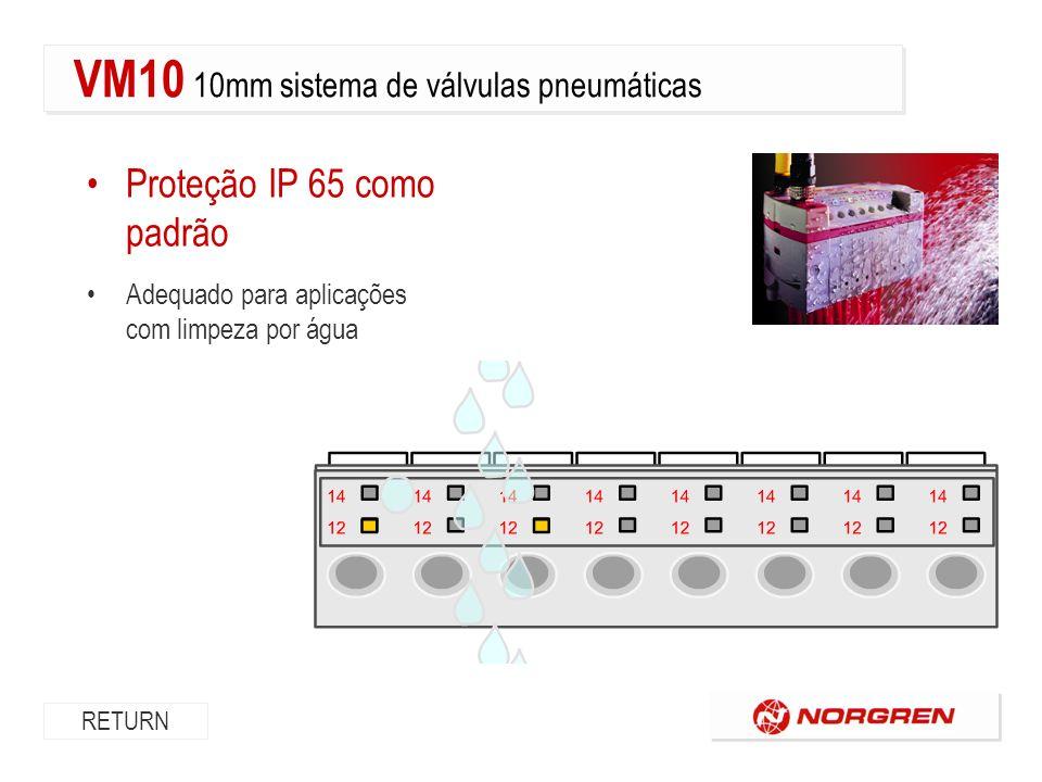 Proteção IP 65 como padrão