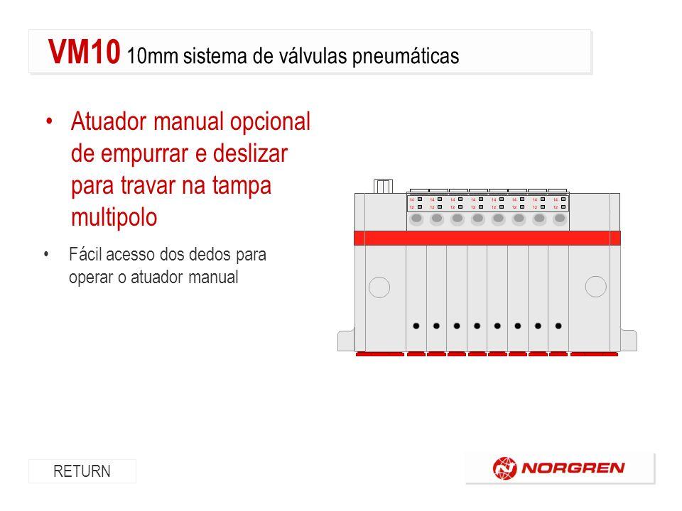 VM10 10mm sistema de válvulas pneumáticas