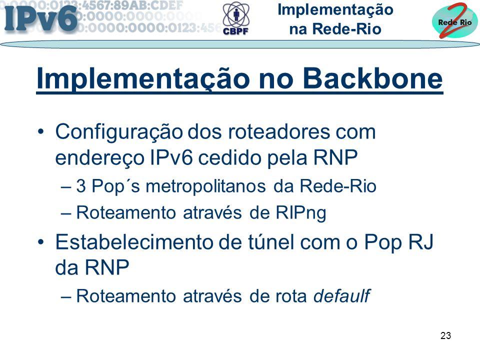 Implementação no Backbone