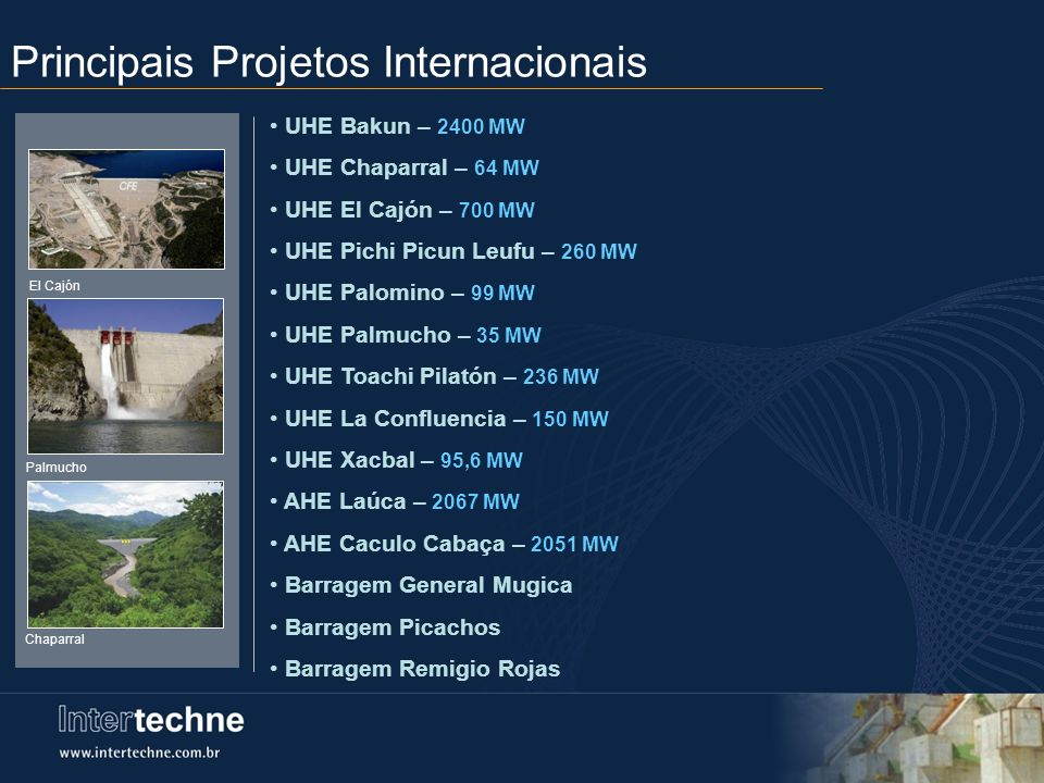 Principais Projetos Internacionais