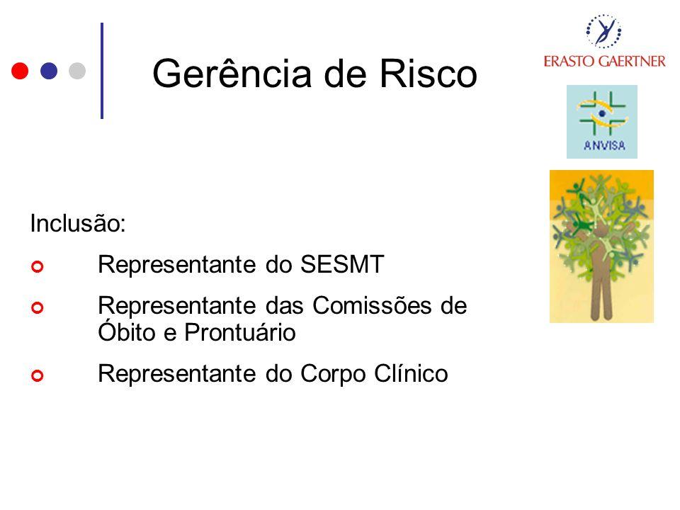 Gerência de Risco Inclusão: Representante do SESMT