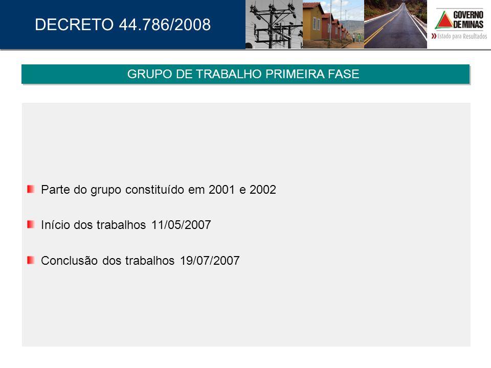 GRUPO DE TRABALHO PRIMEIRA FASE