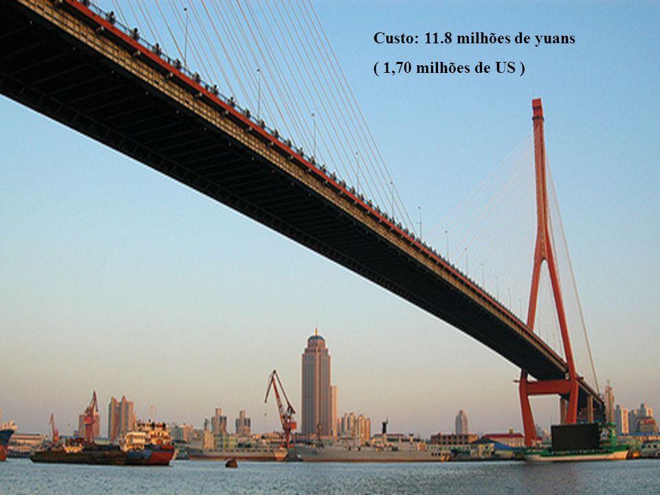 Custo: 11.8 milhões de yuans
