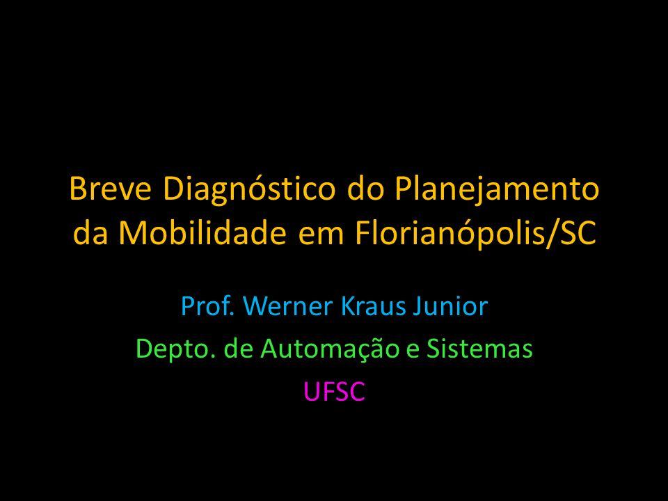 Breve Diagnóstico do Planejamento da Mobilidade em Florianópolis/SC